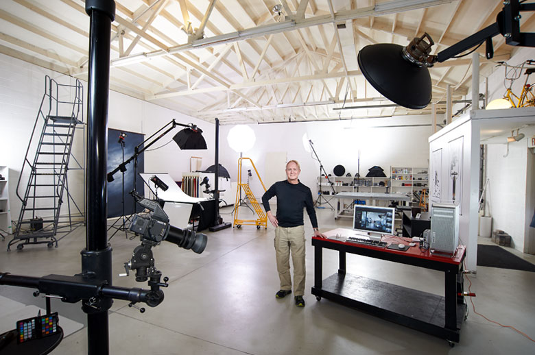 Bruce Rohr in his studio